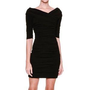 Dolce & Gabbana Black Off-Shoulder Mini Dress